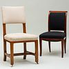English Oak Side Chair, stamped Gillow and a North European Mahogany Side Chair