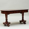 Victorian Carved Mahogany Desk
