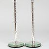 Pair of Etched Glass Boudoir Lamps