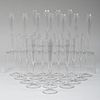Set of Thirty Glass Champagne Flutes