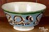 Mocha bowl, with earthworm decoration