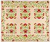 Appliqué flower basket quilt, 19th c.