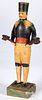 Carved and painted pine figure of a