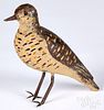 Carved and painted balsa dove decoy, early/mid 20t