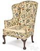 Chippendale mahogany wing chair, ca. 1770, with ca