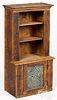 Miniature pine stepback cupboard, 19th c., with pu