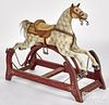 Carved and painted hobby horse, late 19th c.