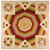 Bethlehem Star quilt and floral appliqué quilt