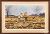 Dennis Clevenger (American 20th c.), watercolor of