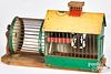 Painted tin squirrel cage, late 19th c.