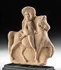 Lovely Roman Terracotta Figure on Horseback