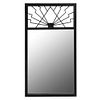Espejo. SXX. Elaborado en herrería color negro. Con luna rectangular. Decorado con elementos geométricos. 148 x 82 x 3 cm