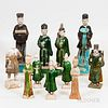 Eleven Chinese Tomb-style Pottery Figures