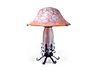 Monumental Cameo Glass Lamp by Daum