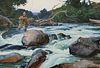 Ogden M. Pleissner (1905–1983) — Above the Rapids
