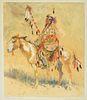 Edward Borein (1872–1945) — A Sioux Indian, Montana (1924)