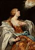 "ABRAHAM JANSSENS (Antwerp, Belgium, c. 1573 –1632). ""The Sibyl Cimeria"". Oil on canvas."