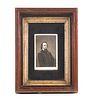Framed CDV Photograph Gen. Pope Walnut Shadow Box Frame