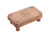Early Americana Folk Art Scrimshaw Carved Table w/ Pinwheels
