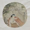 Chinese Scroll Painting on Silk of Woman