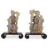 Pair of Chinese Republic Opal Figures