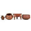 Grp: 3 Nasca Textile Fragments & 4 Pre-Columbian Ceramics