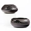 Grp: 2 San Ildefonso Blackware Pots Vintage