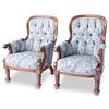 Pair of China Trade Rosewood Victorian Arm Chairs