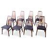 Set of 8 Niels Koefoed Eva Rosewood Danish Modern Dining Chairs