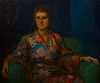 Early 20th c. Portrait of a Woman Oil on Canvas