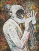 Modernist SW Old Woman Painting - Signed