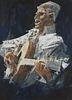 John Berkey Guitar Player Painting
