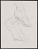 Paul Cadmus Feet Graphite on Paper