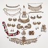 Lrg Grp: 23 Turkoman & Afghani Silver Jewelry