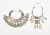 Grp: 2 Miao Hmong Silver Necklaces