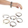 Grp: 7 Silver & Gold Bangle Bracelets