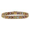 14K Gold & Gemstone Bracelet