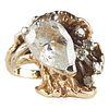 14K Gold Pear Cubic Zirconia Diamond Ring