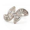 Women's Platinum Diamond Fashion Ring