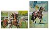 (2) KATHERINE SUTPHIN, Horse Racing Watercolors