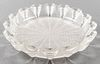 R. Lalique Frosted Art Glass Centerpiece Bowl