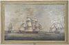 British School Maritime Oil on Canvas, 19th C.