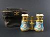 19th C. French Enamel Cheater Binoculars