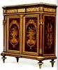 A French Ormolu Mahogany Marquetry & Parquetry