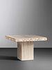 Italian Late 20th Century Travertine Occasional Table