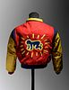 A Keith Haring Leather and Wool Boy's Bomber JacketRetailed by Pop Shop, New York, Circa Early 1990s