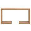 Mesa consola. SXX. Elaborada en madera de encino americano.