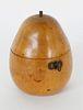 English Pear Form Tea Caddy, 18th Century