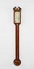 George III Inlaid Mahogany Stick Barometer, circa 1800