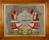British Woolie With Clipper Vignette and Allied Flags, 19th Century